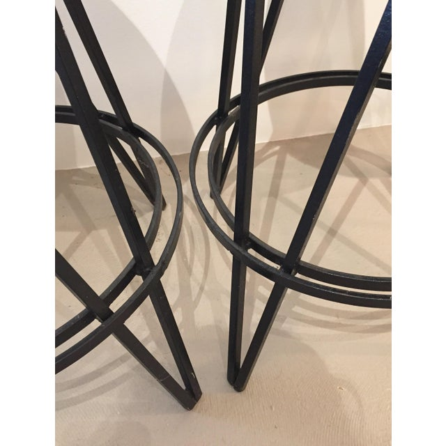 Iron Base Swivel Stool - Set of 3 For Sale In New York - Image 6 of 7