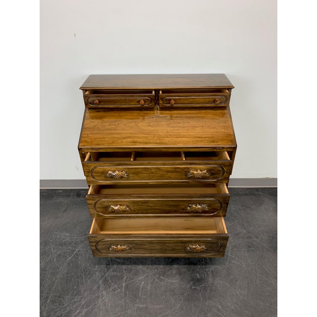 Davis Cabinet Lillian Russell Solid Walnut Victorian Slant Drop Front Desk 2 For Sale In Charlotte - Image 6 of 13