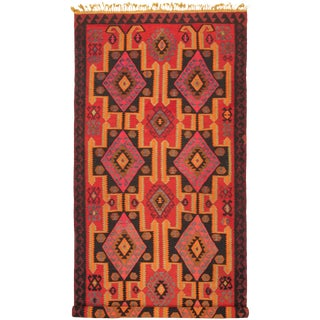 "Turkish Kilim Rug-5'7"" X 13'3"" For Sale"