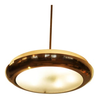 Large Bauhaus pendant lamp by Josef Hurka for Napako, 1938 For Sale
