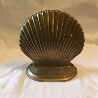 Vintage Brass Clam Shell Bookends - a Pair Preview