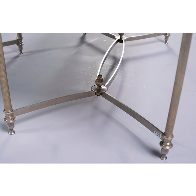 Pair French Black Glass Cocktail Tables For Sale - Image 9 of 11