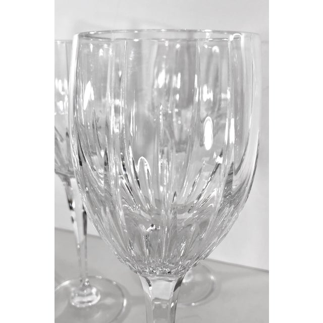 Mikasa Arctic Lights Imperial Cut Crystal Goblets - Set of 4 For Sale - Image 10 of 11