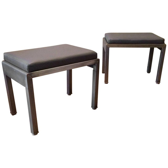 1930s Vintage Norman Bel Geddes for Simmons Art Deco Ottomans- A Pair For Sale - Image 9 of 9