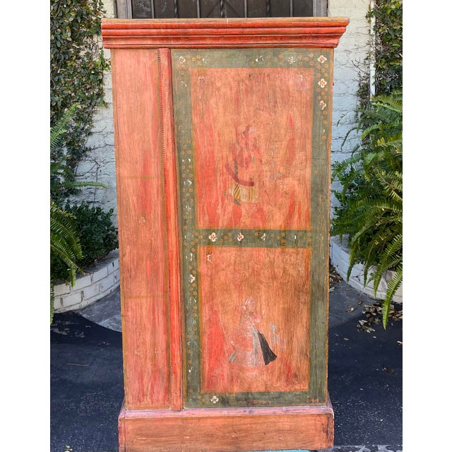 Metal Equator Furniture Company 18th C Spanish Colonial Cabinet Mini Armoire For Sale - Image 7 of 8