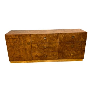 Founders Burlwood Dresser Credenza For Sale