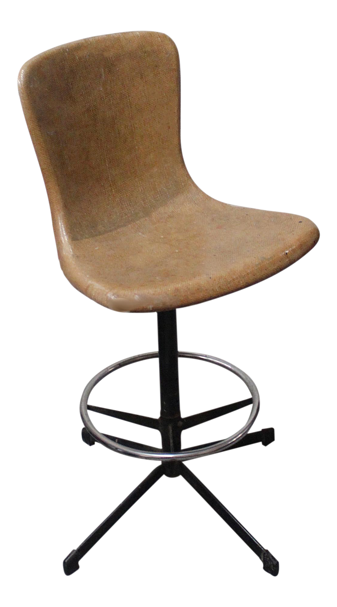 1950s Fiberglass Drafting Stool Chairish