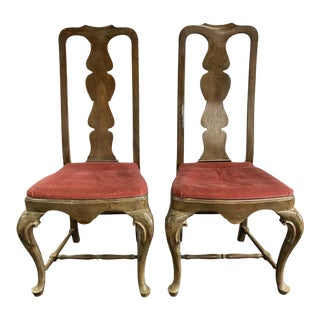 20th Century Ornate French Style Chairs - a Pair For Sale