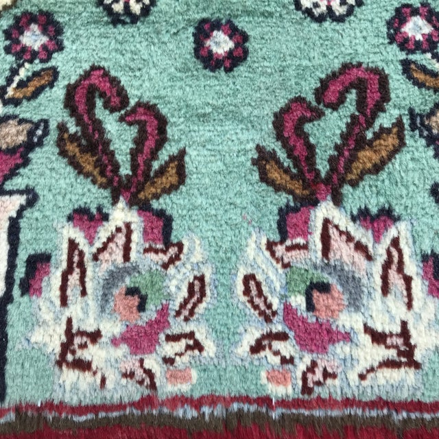"""1980s Persian Pictorial Yalameh Rug - 1'6"""" X 2'7"""" For Sale - Image 9 of 13"""