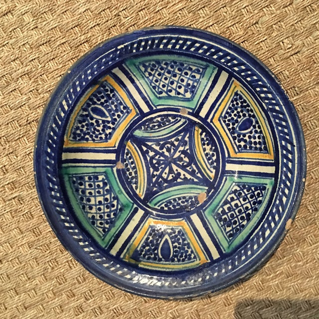 Boho Chic Moroccan Antique Bowl For Sale - Image 3 of 9