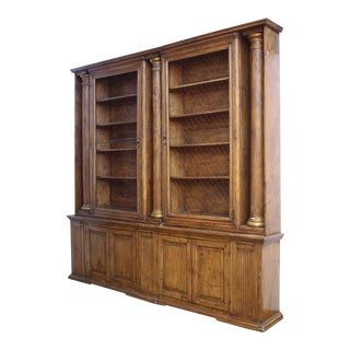 Substantial and Well-Appointed English Bookcase or China Cabinet
