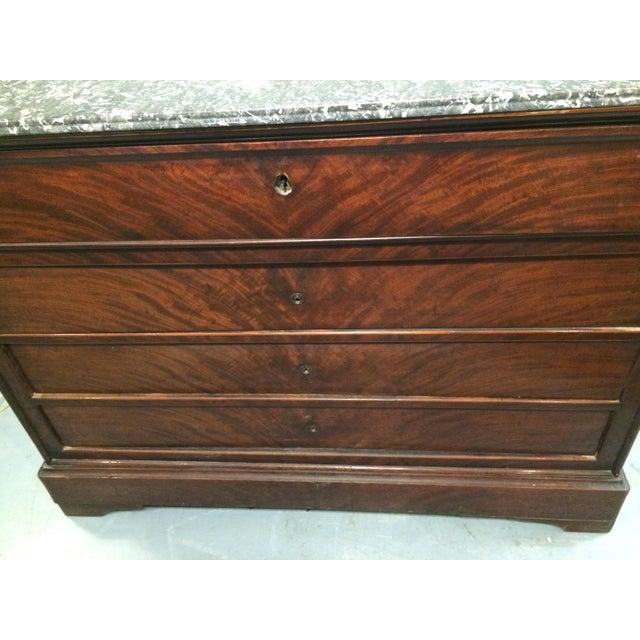 Louis Philippe Three Drawer Desk Commode | Chairish
