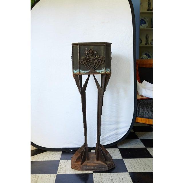 Art Deco Art Deco Iron Pedestal Planter For Sale - Image 3 of 13
