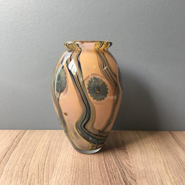 Glass 2006 Robert Eickholt Studio Art Glass Vase For Sale - Image 7 of 7