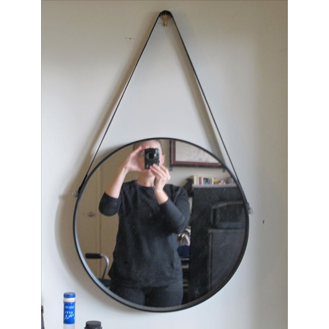 Leather Strap Hanging Mirror - Image 2 of 3