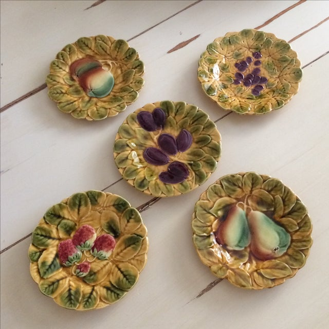 French Sarreguemines Majolica Plates - Set of 5 - Image 11 of 11