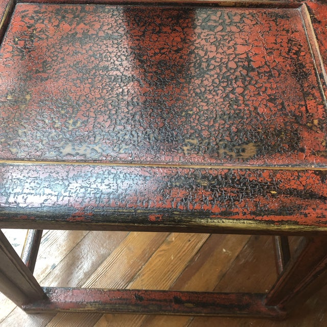 Red Empire Chairs- a Pair For Sale - Image 11 of 13