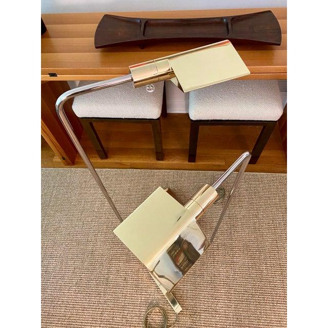 Metal Cedric Hartman Brass / Stainless Steel Height Adjustable / Swivel Floor Lamps - Set of 2 For Sale - Image 7 of 13