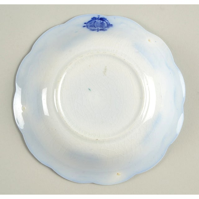 Ceramic Antique Grindley Lorne (Flow Blue) Small Bowl - Set of 8 For Sale - Image 7 of 8