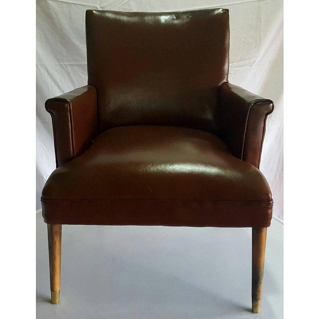 Herman Chairs Inc. Mid-Century Brown Leather Chair - Image 2 of 4