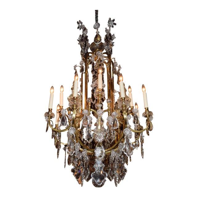 Antique Baccarat chandelier For Sale - Sophisticated Antique Baccarat Chandelier DECASO