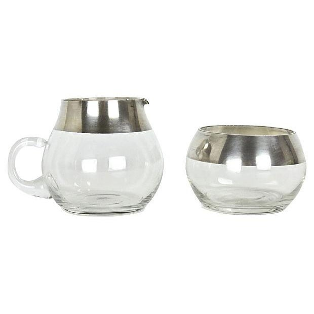 Dorothy Thorpe Silver-Plated Cream & Sugar - Image 1 of 2