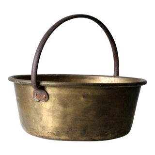 Antique Brass Hearth Ware Pot For Sale
