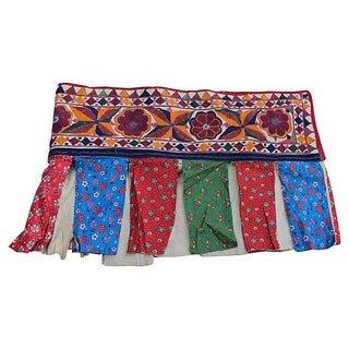 Indian Embroidered Tent Valance