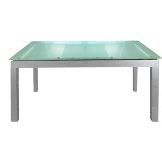 Modern Ligne Roset First Glass Dining Table or Desk For Sale
