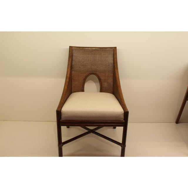 McGuire Barbara Barry Petite Caned Arm Chair - Image 2 of 5