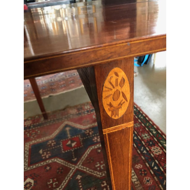 1780 Hepplewhite Inlayed Mahogany Game Table For Sale - Image 12 of 13
