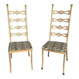 1950s Vintage Italian Gilded Chairs- A Pair For Sale