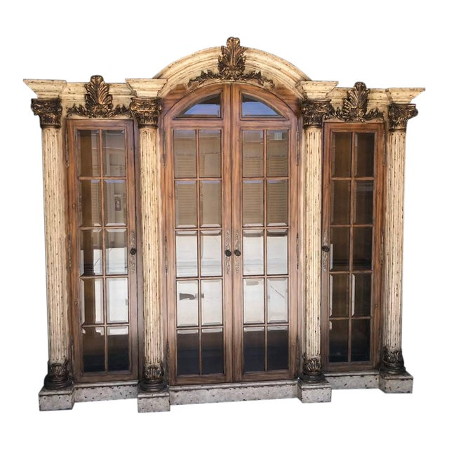 Maitland-Smith Display Cabinet Breakfront For Sale