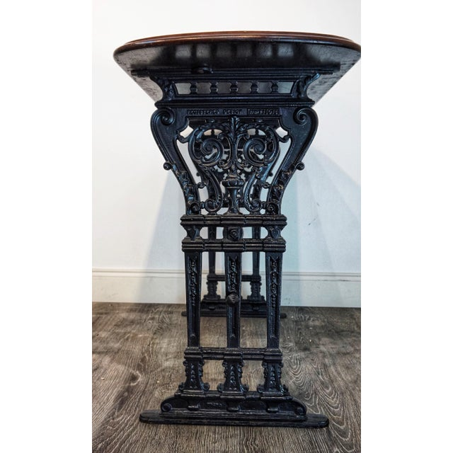1900s Vintage French Iron and Walnut Bistro Table For Sale In West Palm - Image 6 of 9