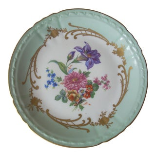 Hand Painted Porcelain Plate For Sale
