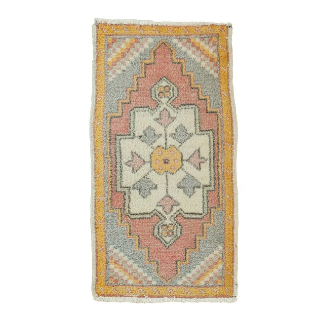 "Vintage Turkish Oushak Rug - 1'9"" x 3'3"" - Image 1 of 6"