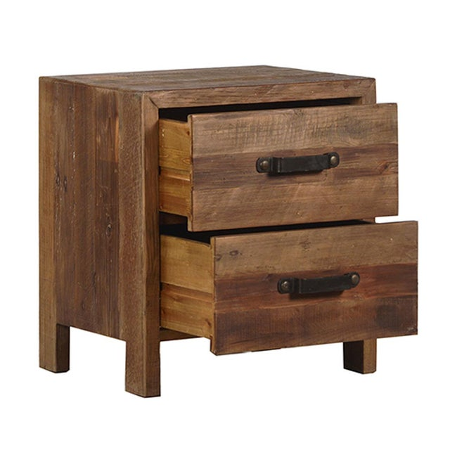 Reclaimed wood bedside cabinet chairish for Buy reclaimed wood los angeles