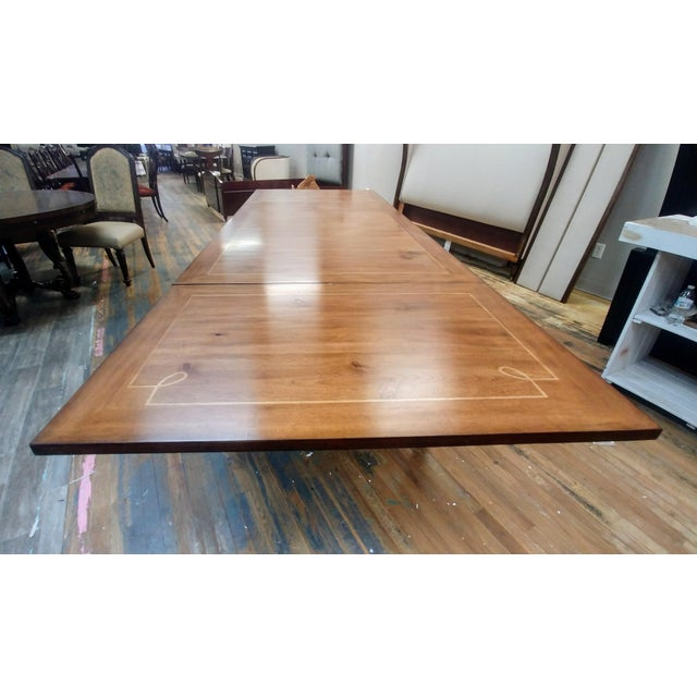 Wood Henredon Furniture Acquisitions European Refectory Walnut Dining Table For Sale - Image 7 of 11