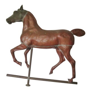 Full Bodied Copper Horse Weathervane For Sale