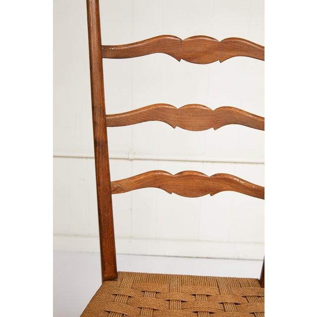 Wood Italian Tall Ladderback Chiavari Chair For Sale - Image 7 of 12
