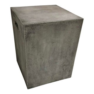Contemporary Concrete Cube Side Table For Sale