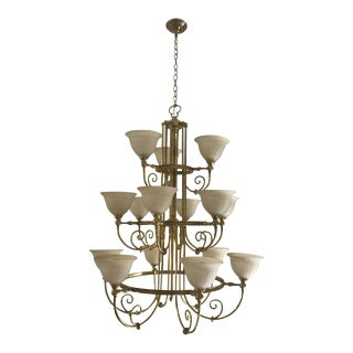 Italian Regency Brass Chandelier For Sale