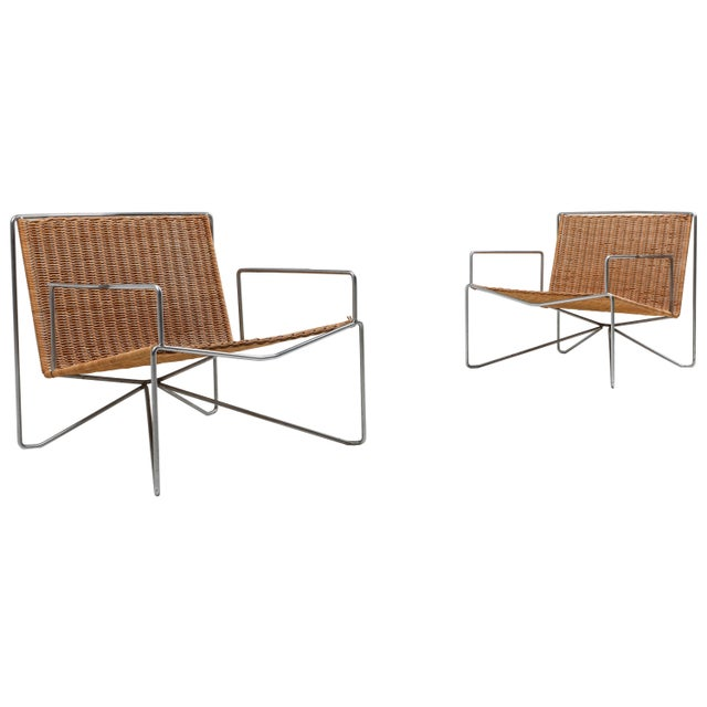 Rattan and Steel Armchairs Gelderland, 1964 - a Pair For Sale - Image 13 of 13