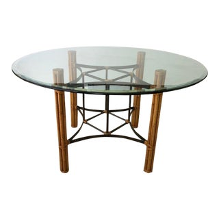 Vintage McGuire Round Dining Table For Sale