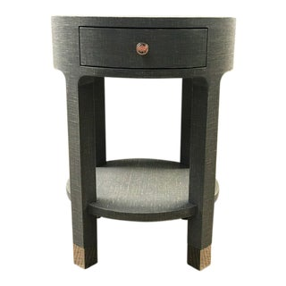 Bungalow 5 Dakota 1 Drawer Round Side Table For Sale