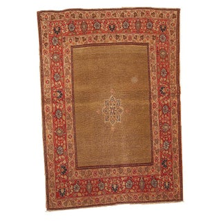 Antique Persian Tabriz - 3′10″ × 5′ For Sale
