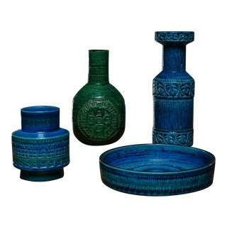 Set of Four Ceramic Vases by Bitossi For Sale