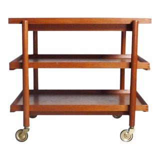 Danish Modern Bar Cart by Poul Hundevad, Denmark For Sale