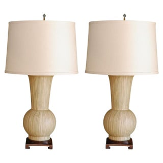 Pair Paul Marra Urn Table Lamps For Sale