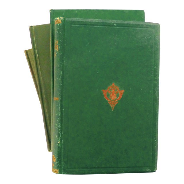 Antique Green & Gold Books - Set of 5 - Image 1 of 10